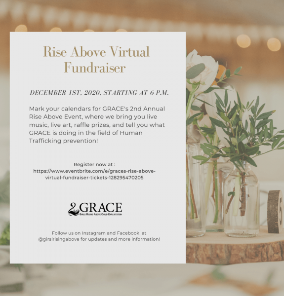 RISE Above virtual fundraiser Instagram post